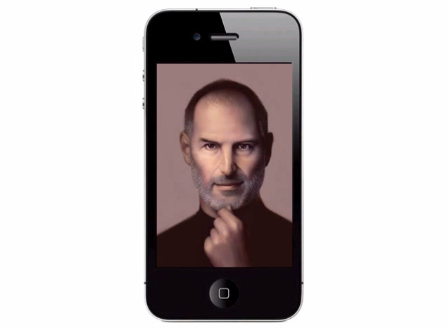 Steve Jobs painting on iPhone   YouTube